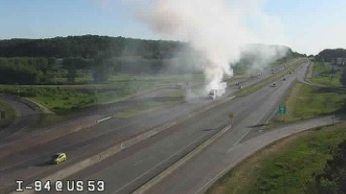 Semi fire on I-94