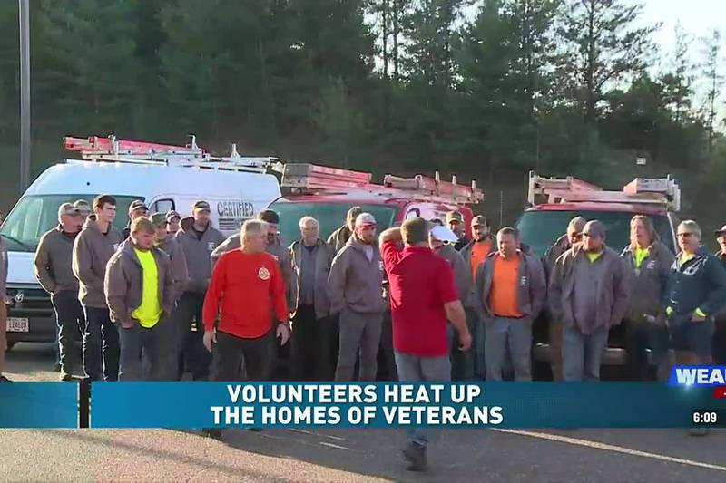 Volunteers Heat Up The Homes of Veterans