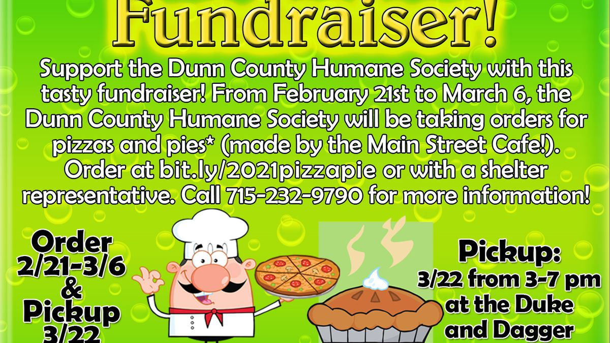 DCHS pizza and pie fundraiser