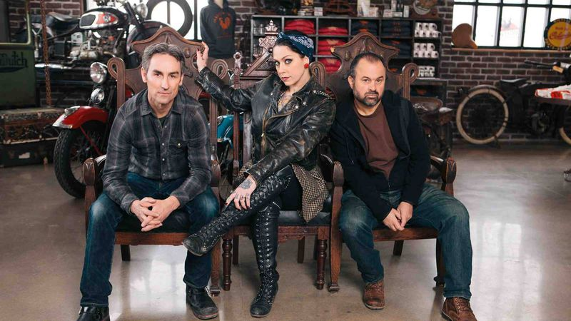 """Mike Wolfe (from left), Frank Fritz and Danielle Colby Cushman of """"American Pickers"""" (Source:..."""