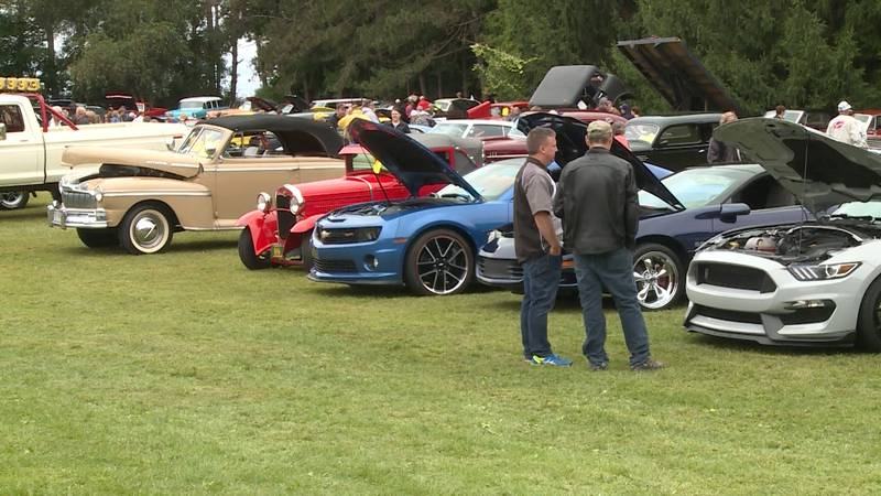 Car show at 2019 Cleghorn Harvest Fest