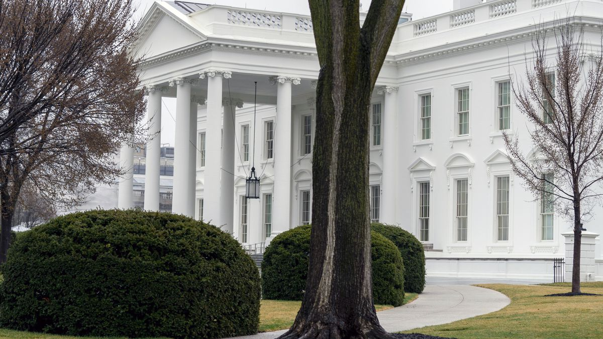 In this March 18, 2021 photo, the White House is shown in Washington.