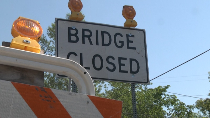 The bridge was closed Monday and will be closed while it is inspected for other damage.