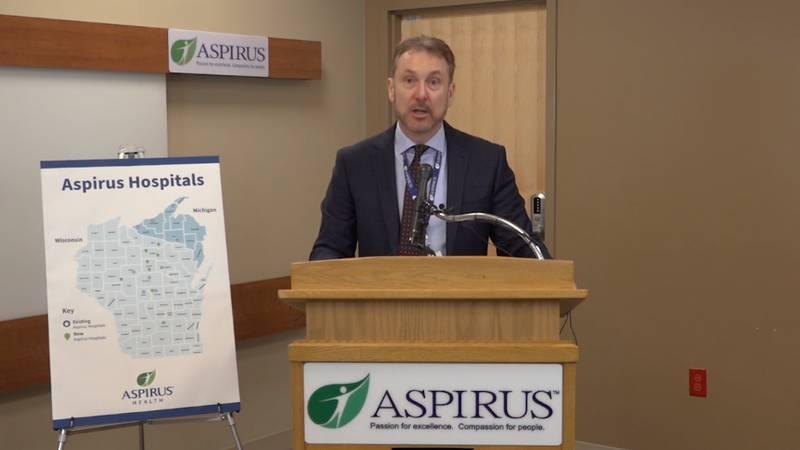 Matt Heywood, Aspirus CEO, announces Ascension acquisition is finalized.
