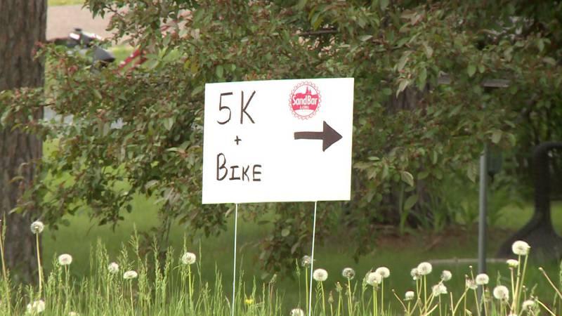 A Saturday triathlon raised money for Type 1 diabetes research.