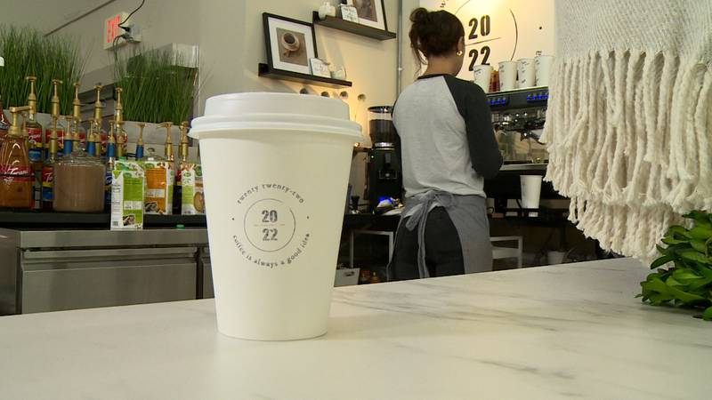 The new Mondovi coffee shop celebrates its grand-opening Wednesday morning.