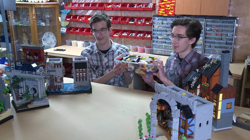 (L-R) Jacob & Caleb Schilling will be competing on season two of LEGO Masters