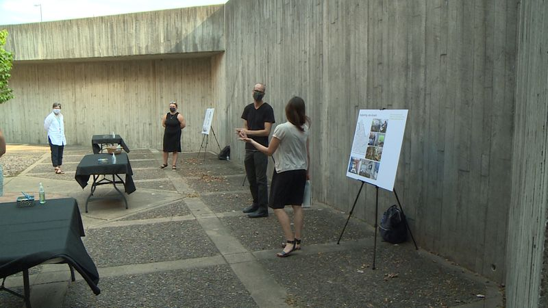 An outdoor public input session was held, hosted by MSR design the Minneapolis architecture...