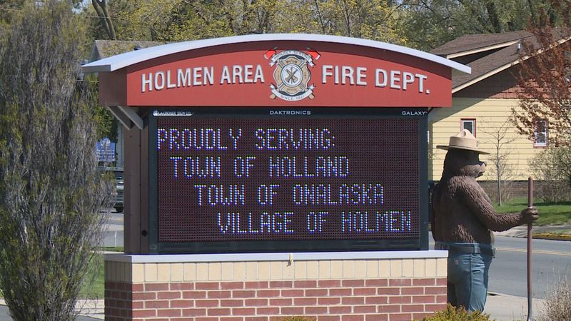 Sign of the Holmen Area Fire Department