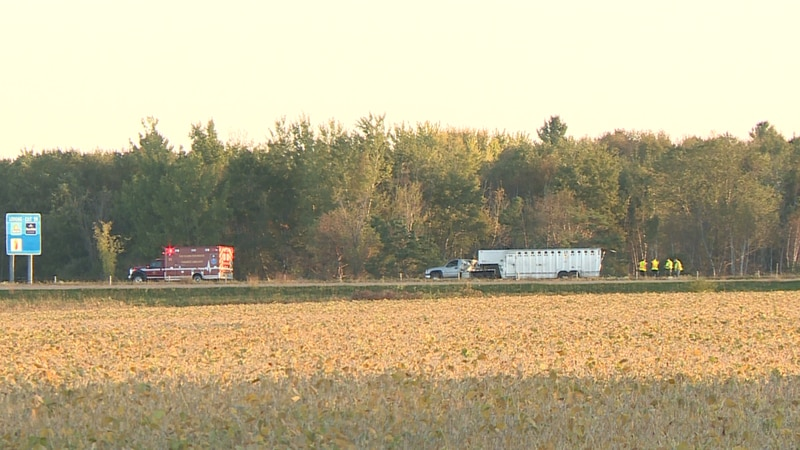 The incident happened near the Eau Claire and Dunn County line.
