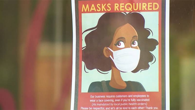 Masks are required in some locations as the delta surge continues.