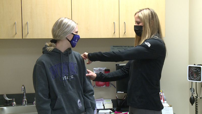 Winona State University looks to have over 160 of their students vaccinated to assist in the...