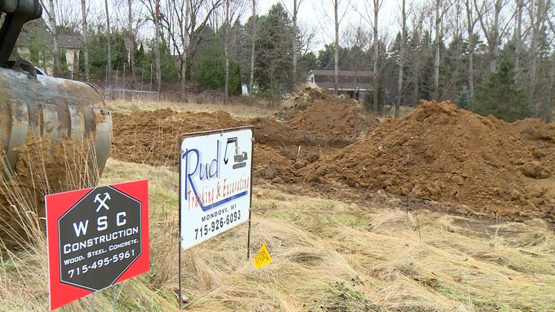 Habitat for Humanity builds a home for a Mondovi family.