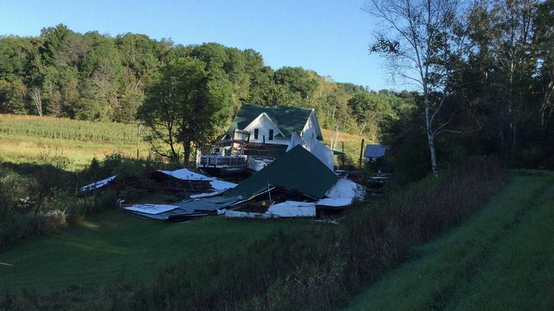 A tornado passed through part of Trempealeau County, Wis. on Monday, September 20, 2021. A...
