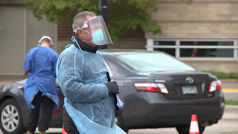 During the eight hour event at the La Crosse County Health Department building, 450 tests were...