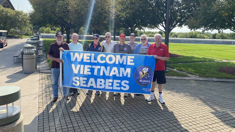 As part of this years reunion, Vietnam Navy Seabees visited the Highground Veterans Memorial...