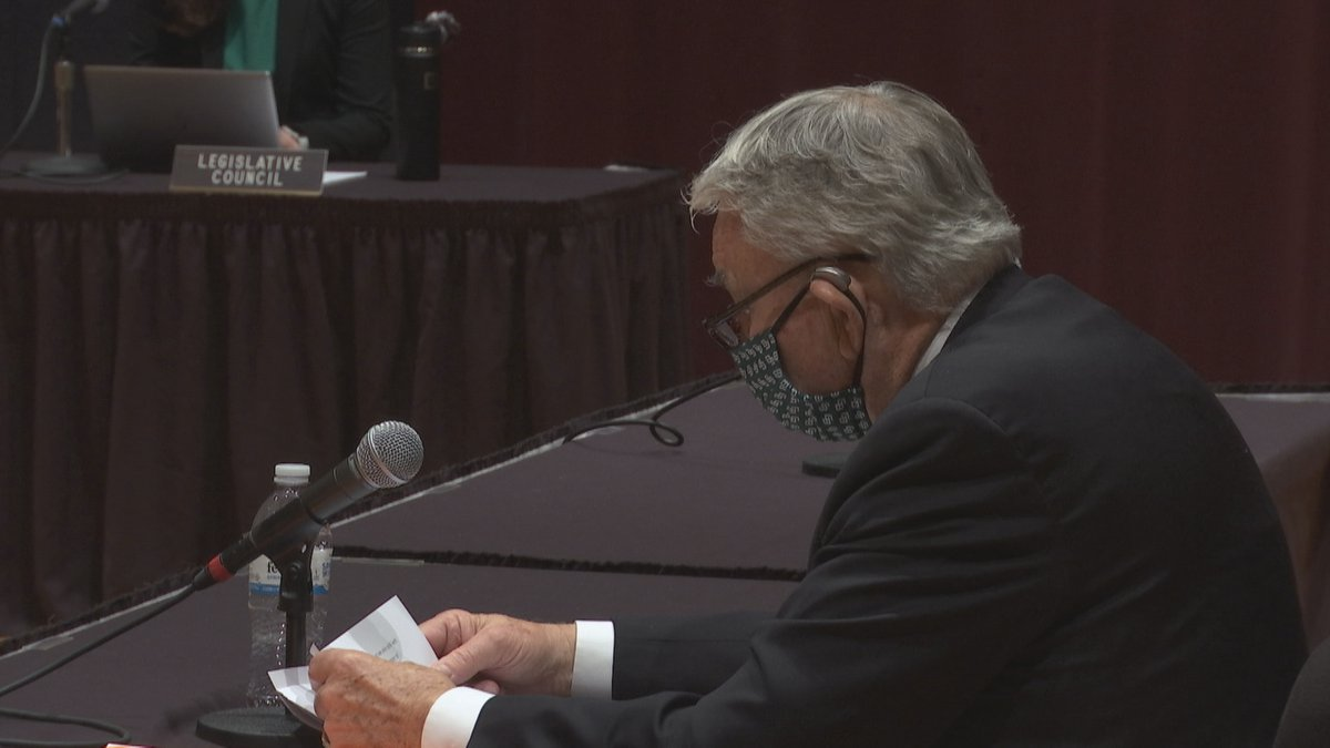 UW School Systems President Tommy Thompson spoke before the Senate Committee on Universities...
