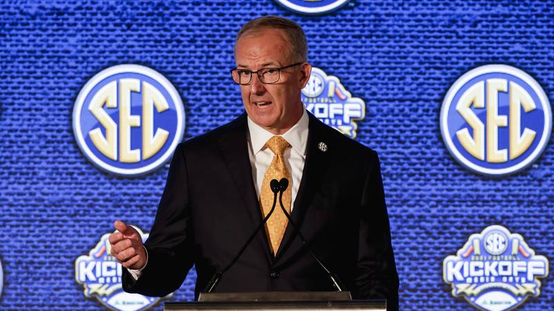"""Speaking at SEC media days, Commissioner Greg Sankey said games won't be rescheduled, so """"your..."""