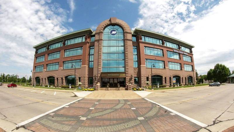 The Royal Credit Union (RCU) Corporate Office in downtown Eau Claire, Wis. This photo was taken...