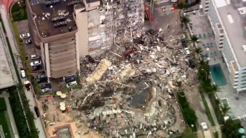 Nearly 100 are unaccounted for in a condo collapse in Miami.