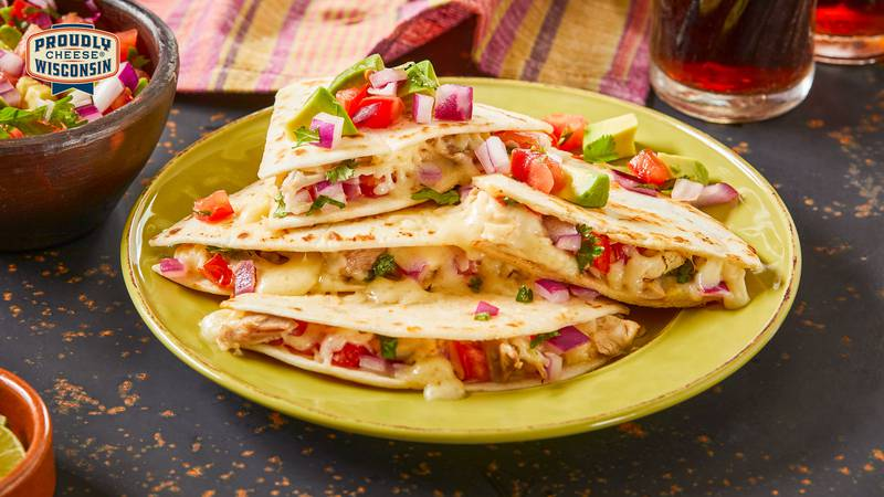 Dairy Farmers of Wisconsin cheese quesadillas