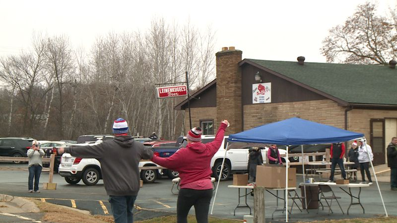 """Schuetzy's Tavern hosted its first """"Gobble Wobble"""" run Thursday morning."""