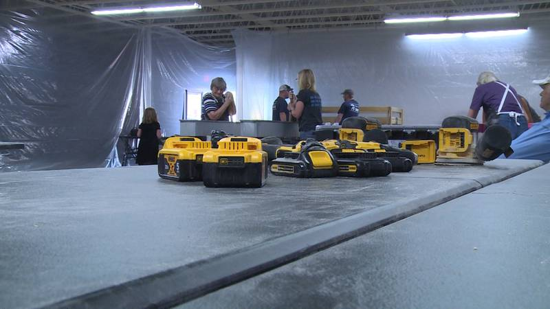 Group helps build 15 beds for kids in need