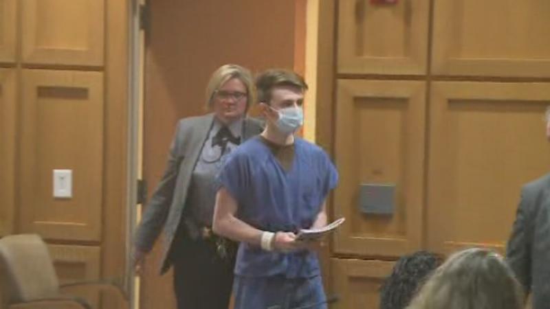 Chandler Halderson appears in court Wednesday in Dane County.