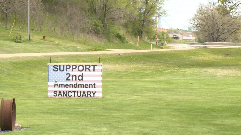 A sign in Trempealeau County supporting the 2nd Amendment sanctuary cause