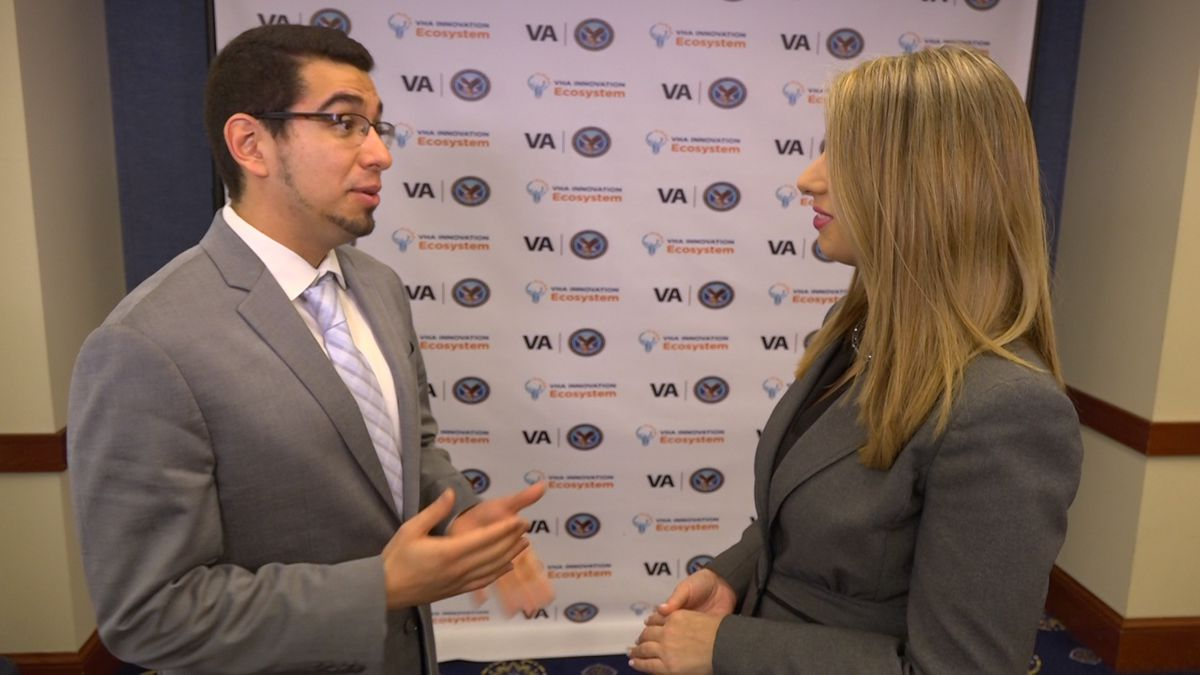 Madison, Wisconsin VA pharmacist, Edward Portillo, discusses the success of his center's COPD program in helping veterans' health with Washington Correspondent Alana Austin. (Source: GrayDC)